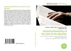 Couverture de Historical Reliability of the Acts of the Apostles