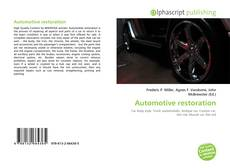 Bookcover of Automotive restoration