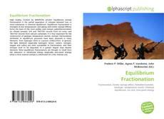 Обложка Equilibrium Fractionation