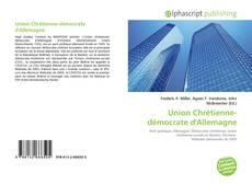 Buchcover von Union Chrétienne-démocrate d'Allemagne