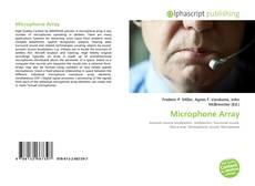 Borítókép a  Microphone Array - hoz