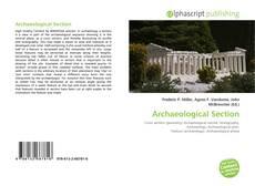 Capa do livro de Archaeological Section