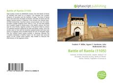 Bookcover of Battle of Ramla (1105)