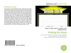 Buchcover von Finding His Voice