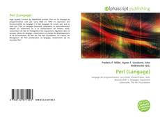 Bookcover of Perl (Langage)