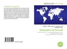 Bookcover of Géographie du Burundi