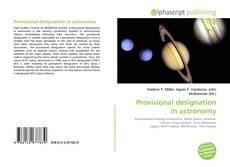 Portada del libro de Provisional designation in astronomy