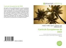 Bookcover of Canicule Européenne de 2003