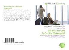 Couverture de Business Process Definition Metamodel