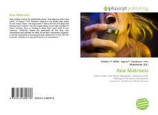 Capa do livro de Ana Matronic