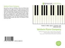 Обложка Baldwin Piano Company