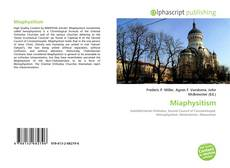 Bookcover of Miaphysitism