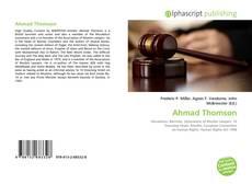 Ahmad Thomson的封面