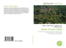 Bookcover of Battle of Caen (1346)