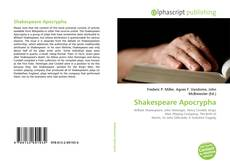 Bookcover of Shakespeare Apocrypha