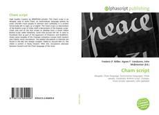 Bookcover of Cham script