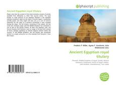 Couverture de Ancient Egyptian royal titulary