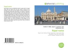 Bookcover of Papal name
