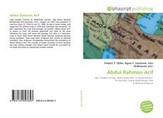 Bookcover of Abdul Rahman Arif