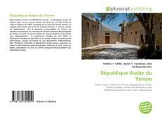Portada del libro de République Arabe du Yémen