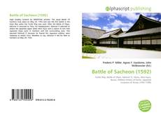 Bookcover of Battle of Sacheon (1592)