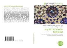 Buchcover von July 2010 Zahedan Bombings