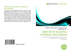Bookcover of 2008–09 A1 Grand Prix of Nations, New Zealand