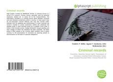 Portada del libro de Criminal records