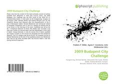 Bookcover of 2009 Budapest City Challenge