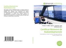 Couverture de Certificat Restreint de Radiotéléphoniste