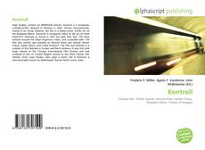 Bookcover of Kontroll