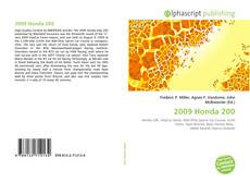 Bookcover of 2009 Honda 200