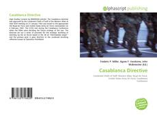 Bookcover of Casablanca Directive