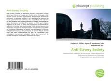 Portada del libro de Anti-Slavery Society