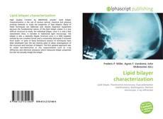 Lipid bilayer characterization kitap kapağı