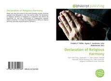 Bookcover of Declaration of Religious Harmony