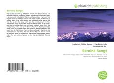 Bookcover of Bernina Range