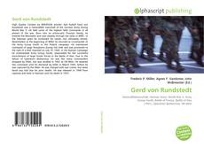 Bookcover of Gerd von Rundstedt