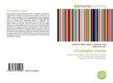 Portada del libro de Christopher Franke