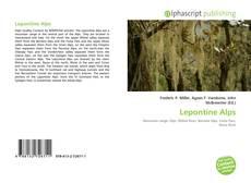 Copertina di Lepontine Alps