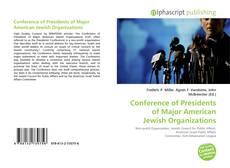 Conference of Presidents of Major American Jewish Organizations的封面