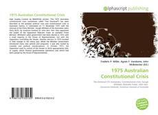 Couverture de 1975 Australian Constitutional Crisis