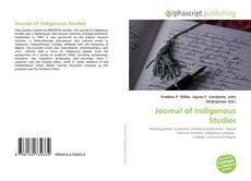 Couverture de Journal of Indigenous Studies