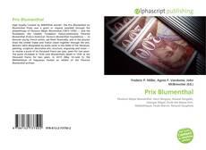 Обложка Prix Blumenthal