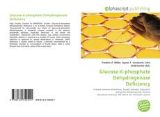 Bookcover of Glucose-6-phosphate Dehydrogenase Deficiency