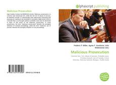 Bookcover of Malicious Prosecution