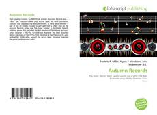 Buchcover von Autumn Records