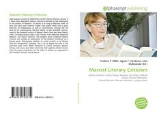 Bookcover of Marxist Literary Criticism