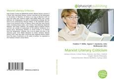 Capa do livro de Marxist Literary Criticism