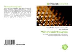 Bookcover of Memory Disambiguation